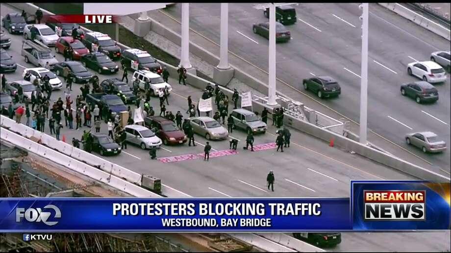 Bay Bridge protesters