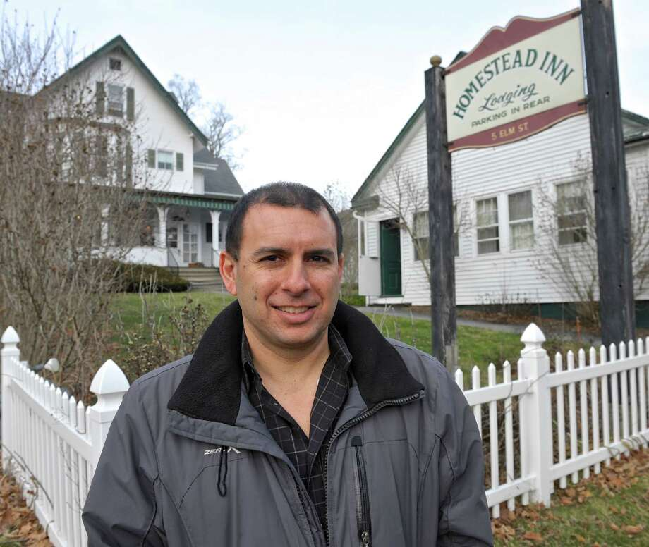 John Farley, who recently purchased the Homestead Inn, on Elm Street in New Milford, said he plans to start renovations soon but will preserve the historic look. Photo: H John Voorhees III / Hearst Connecticut Media / The News-Times