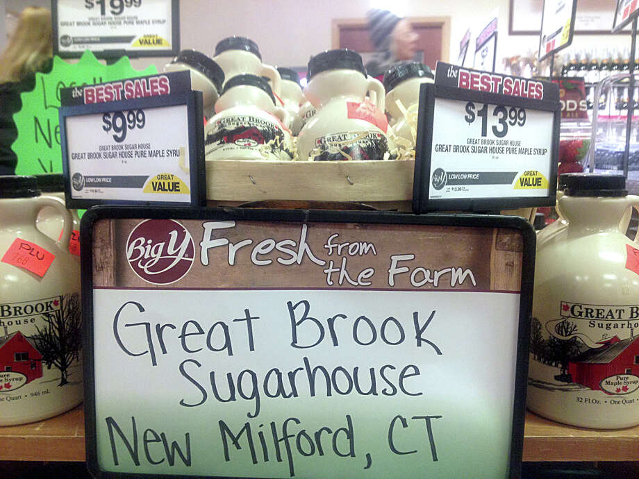 Great Brook Sugar House maple syrup from Sullivan Farm Youth Agency program on sale at Big Y in New Milford, Conn., Monday, January 18, 2016. Photo: Suasn Tuz / Susan Tuz / The News-Times