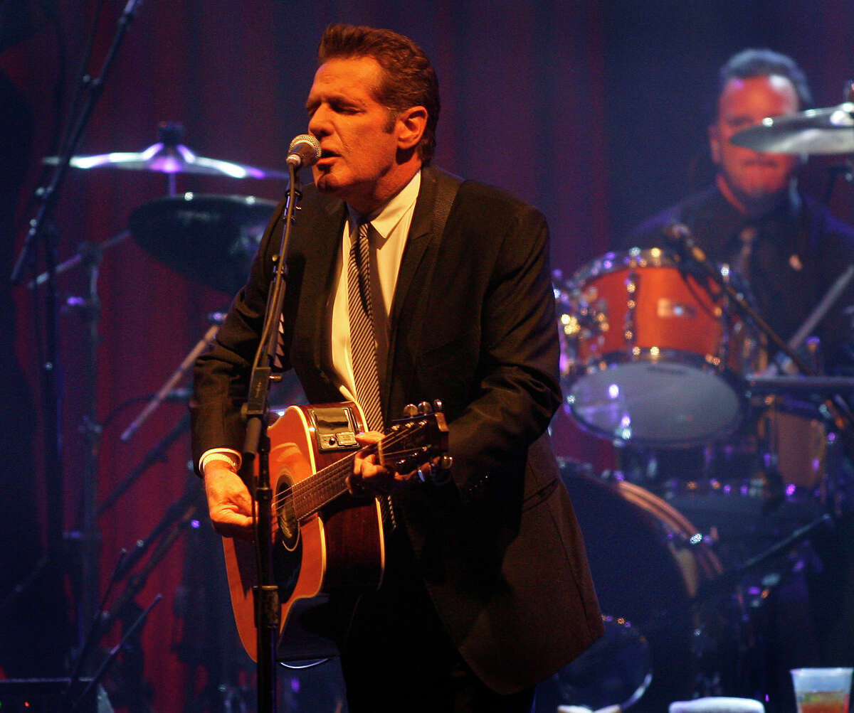 FILE - In this March 20, 2010 file photo, Glenn Frey of the Eagles performs at Muhammad Ali's Celebrity Fight Night XVI in Phoenix, Arizona. The Eagles said band founder Frey died Monday, Jan. 18, 2016, in New York after battling multiple ailments. He was 67. (AP Photo/Ralph Freso, File) ORG XMIT: NY121