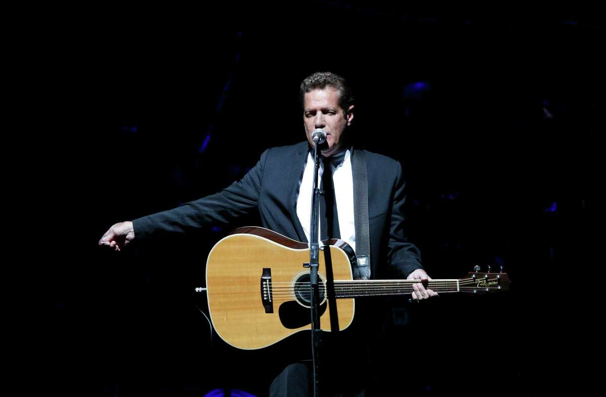 FILE - In this June 30, 2009, file photo, Glenn Frey, of the the Eagles, performs at Belfast's Odyssey Arena in Northern Ireland. Frey, who co-founded the Eagles and with Don Henley became one of history's most successful songwriting teams with such hits as