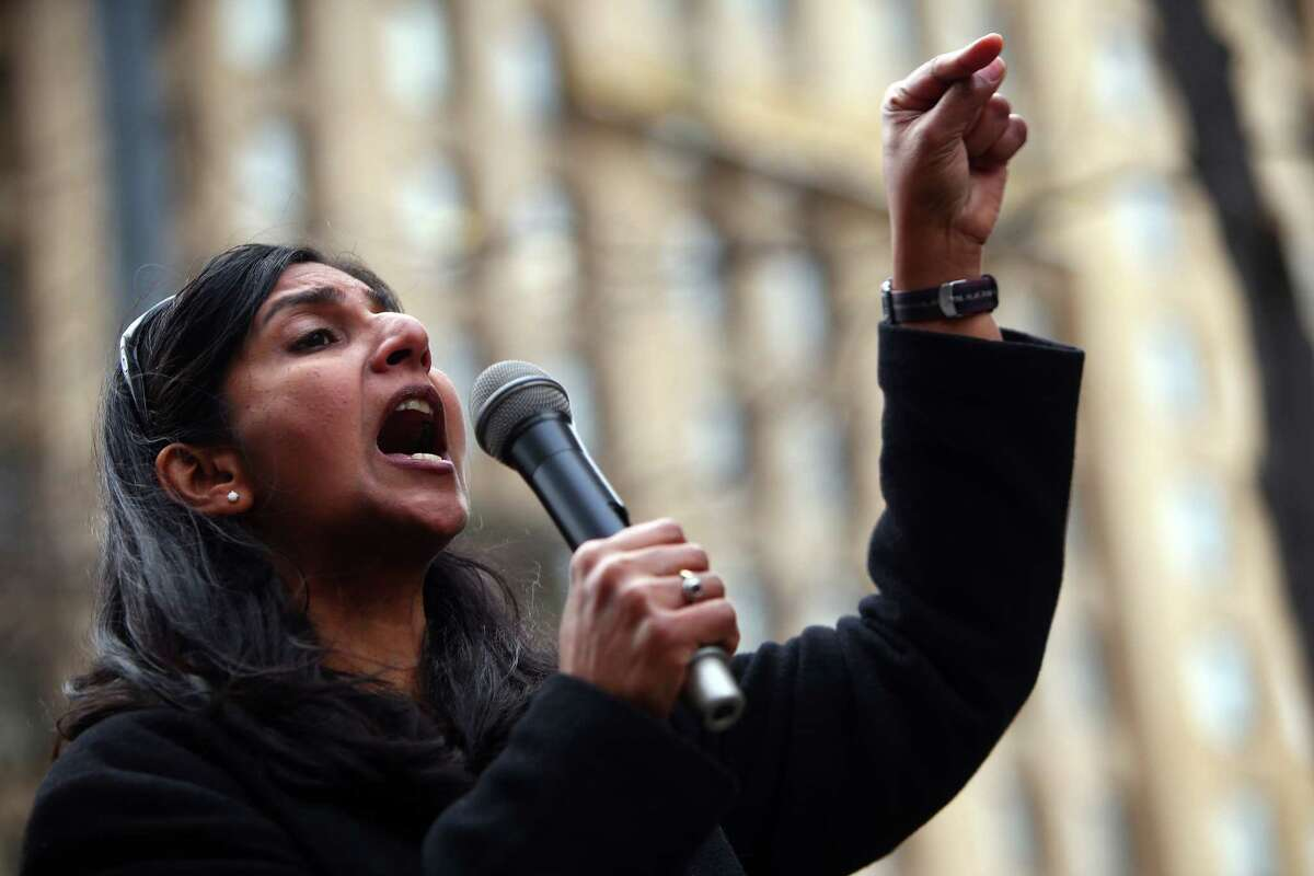 1. The roads in their districts are all paved with Seattle's socialist taxes dumped by the truckload into state coffers.Photo caption: Seattle City Council member Kshama Sawant speaks to crowds in front of the downtown Federal Building during the 34th Annual Martin Luther King Jr. Day Celebration March, Monday, Jan. 18, 2016.