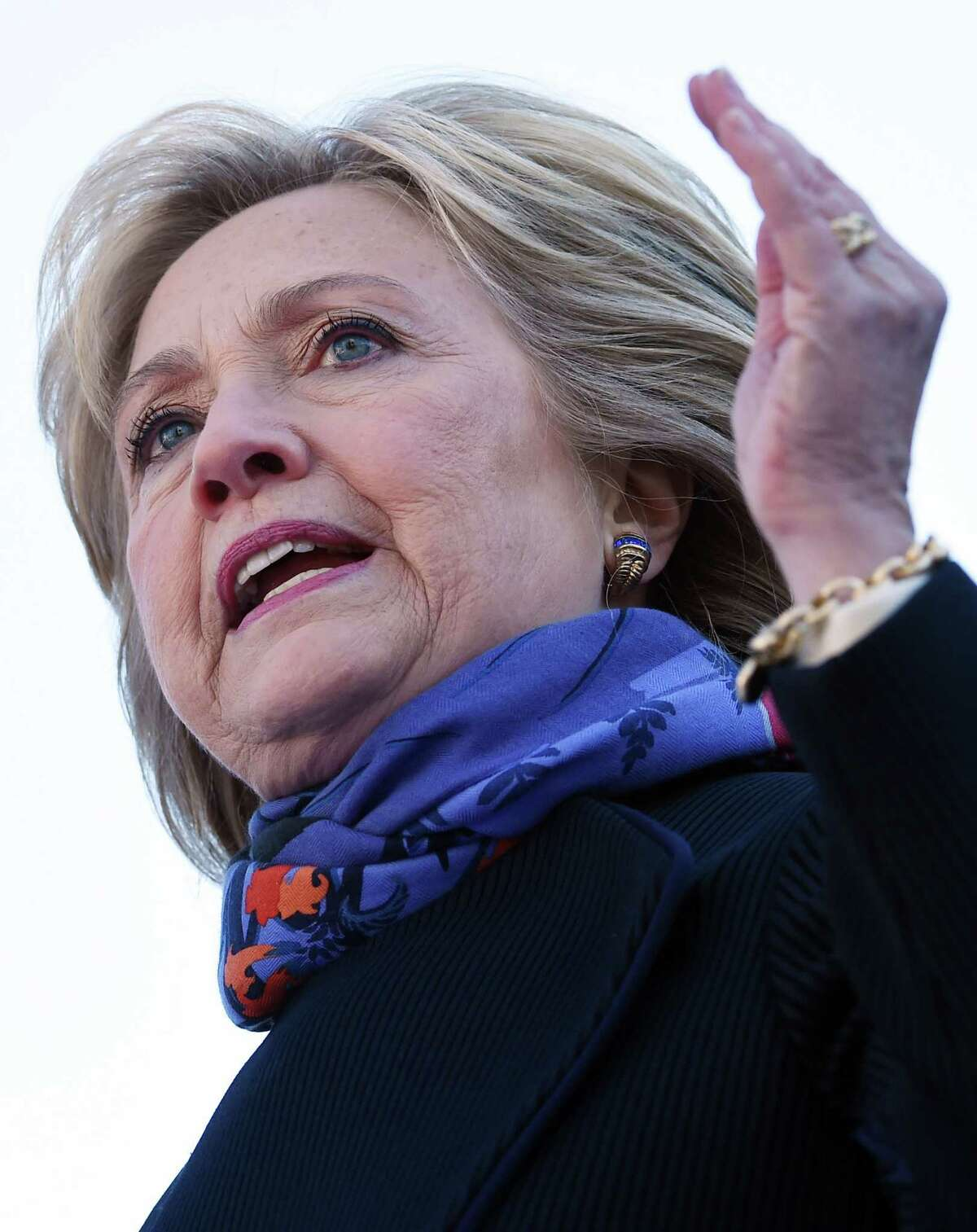 Democratic presidential candidate Hillary Clinton speaks during the King Day at the Dome event celebrating the life of Martin Luther King Jr., Monday, Jan. 18, 2016, in Columbia, S.C. (AP Photo/Rainier Ehrhardt) ORG XMIT: SCRE106