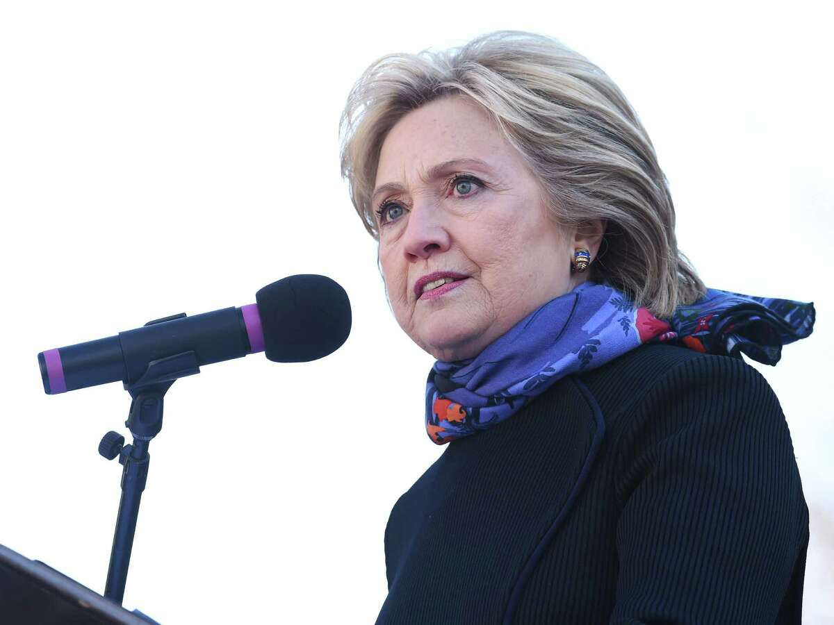 Democratic presidential candidate Hillary Clinton speaks during the King Day at the Dome event celebrating the life of Martin Luther King Jr., Monday, Jan. 18, 2016, in Columbia, S.C. (AP Photo/Rainier Ehrhardt) ORG XMIT: SCRE105