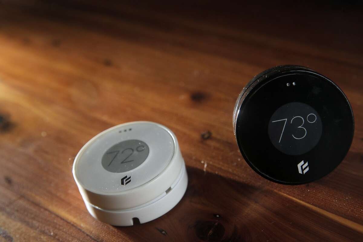 Daniel Myers CEO of Flair, shows off the company's newest invention, a wireless thermostat and smart vent, in his home in Albany, Calif., on Monday, January 18, 2016. Flair, a new Bay Area startup, thinks it has found the answer to those parts of your house that never seem to be as warm or as cool as the others...a small wireless thermostat that links to a motor-controlled smart vent that can open or close to do custom, small-scale temperature changes.