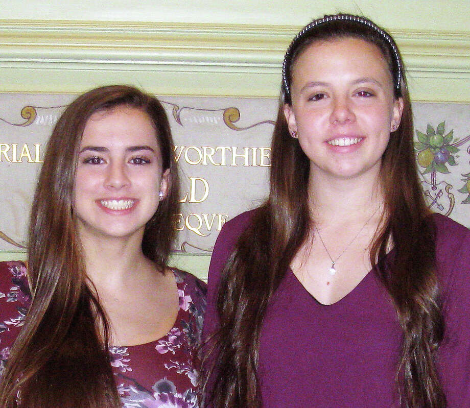 Sisters Isabella and Caroline Carrano, of Fairfield, both recently earned Girl Scouts' highest honor, the Gold Award. Photo: Contributed Photo / Contributed Photo / Fairfield Citizen