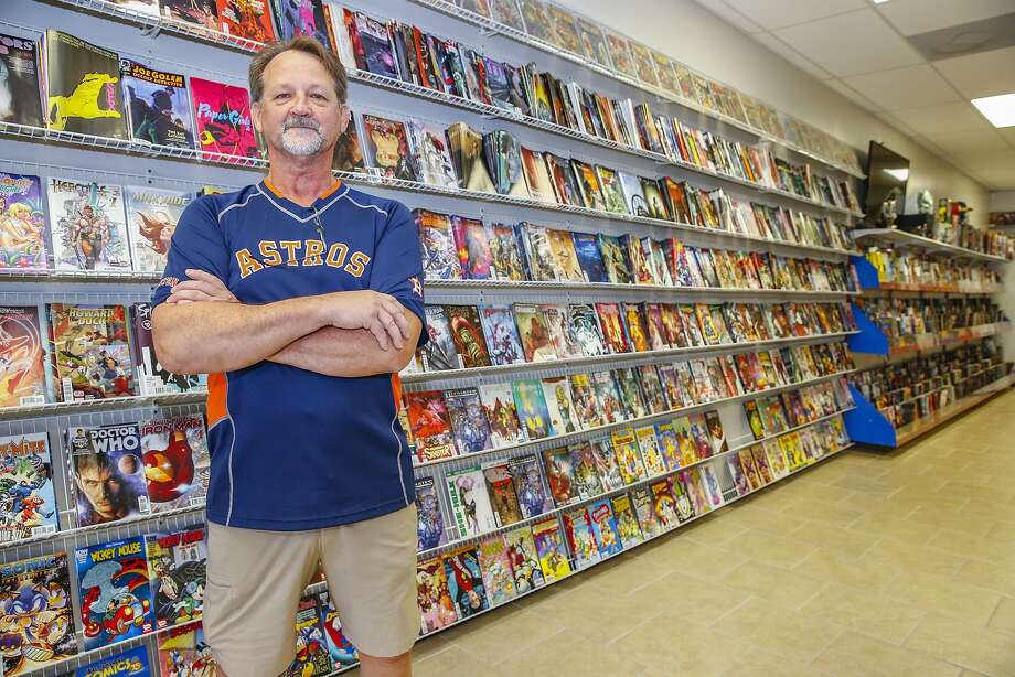 Odyssey Comics and Cards owner Greg Sohlden turned a childhood love of comic-book characters such as Spider Man and Woody Woodpecker into a lucrative business. He stands by his well-stocked comics section in his store, which is at 2347 N. Fry Road in Katy. Odyssey Comics and Cards owner Greg Sohlden turned a childhood love of comic-book characters such as Spider Man and Woody Woodpecker into a lucrative business. He stands by his well-stocked comics section in his store, which is at 2347 N. Fry Road in Katy. Photo: Diana L. Porter, Freelance / © Diana L. Porter