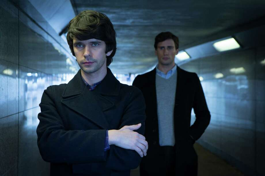 """Ben Whishaw, foreground, plays Danny, and Edward Holcroft plays Alex in """"London Spy"""" on BBC America. Photo: Ed Miller / WTTV Limited"""