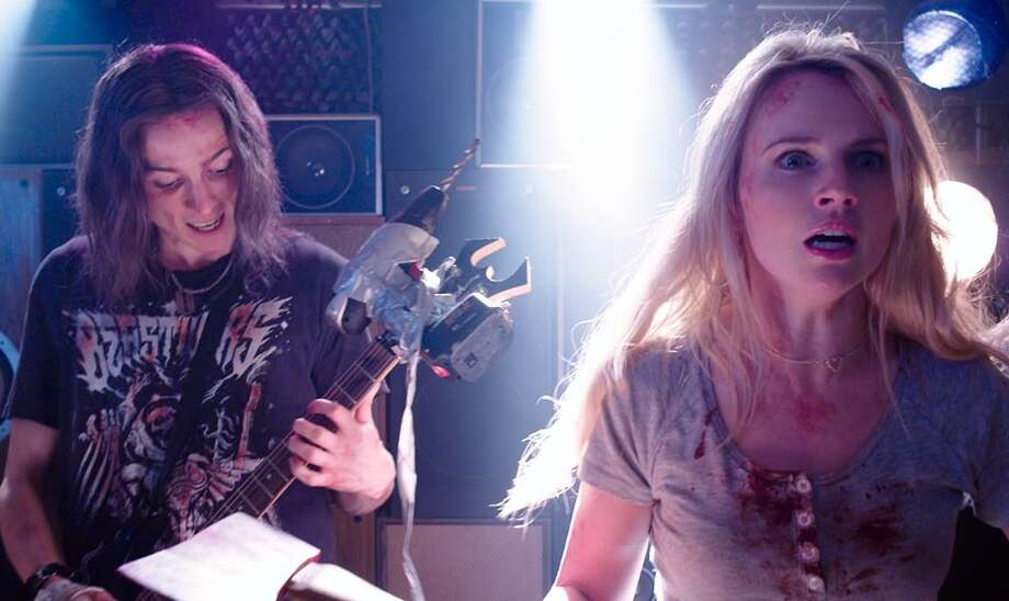 """It's true what they say about heavy metal being the devil's music in """"DEATHGASM."""" Photo: Dark Sky Films"""