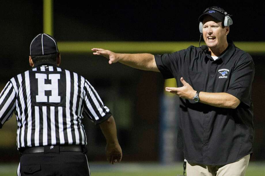 Friendswood head coach Robert Koopmann is hoping the UIL leaves the Mustangs' district alignment largely unchanged. Photo: Smiley N. Pool, Staff / © 2014  Houston Chronicle