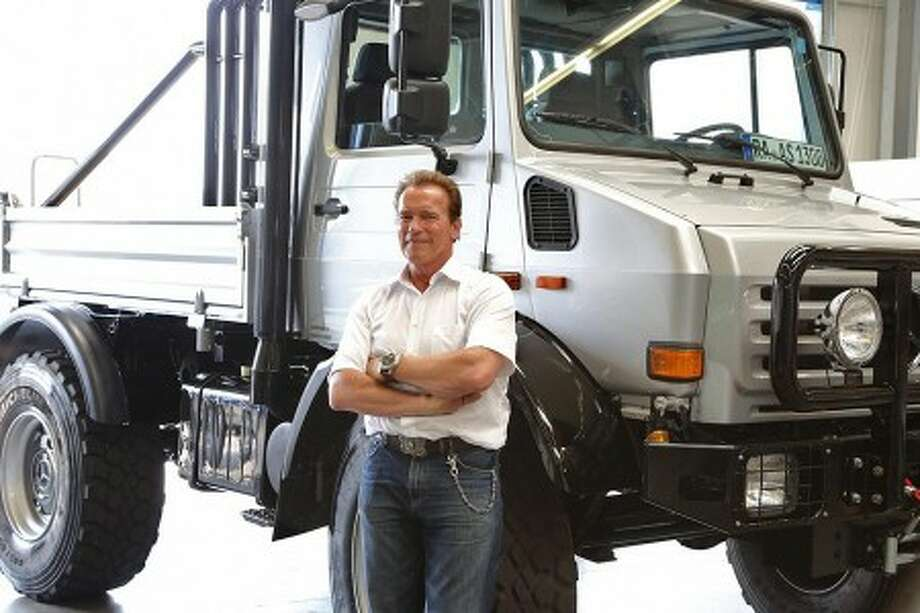 Arnold Schwarzenegger's 1977 Mercedes-Benz Unimog truck is up for sale for more than $350,000 on eBay. Photo: Mercedes Blog, Courtesy