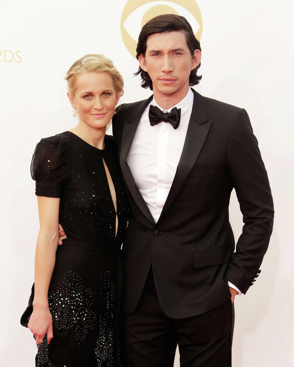 Joanne Tucker and Adam Driver arrive at the 65th Annual Primetime Emmy Awards held at Nokia Theatre L.A. Live on September 22, 2013 in Los Angeles, California.