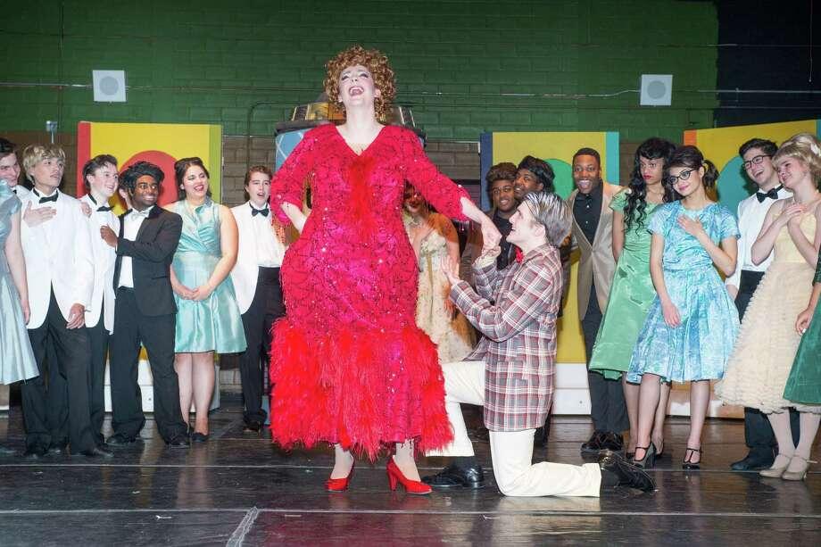 "Kinkaid student and television actor Ty Doran portrays Edna in ""Hairspray"" at the Kinkaid school. Photo: David Shutts"