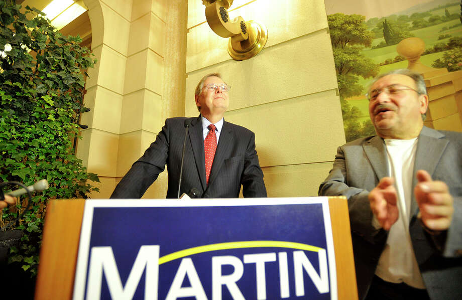 Stamford Mayor David Martin in September 2013 at the Stamford Marriott Hotel & Spa, after winning the Democratic primary for the city's mayoral office. Photo: Jason Rearick / Jason Rearick / Stamford Advocate