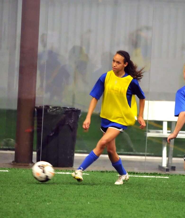 The Klein High School Girls Soccer team practice, 3-20-2015.  Alyssa Malonson, sophomore midfielder/forward. Photo: Eddy Matchette, Freelance / Freelance