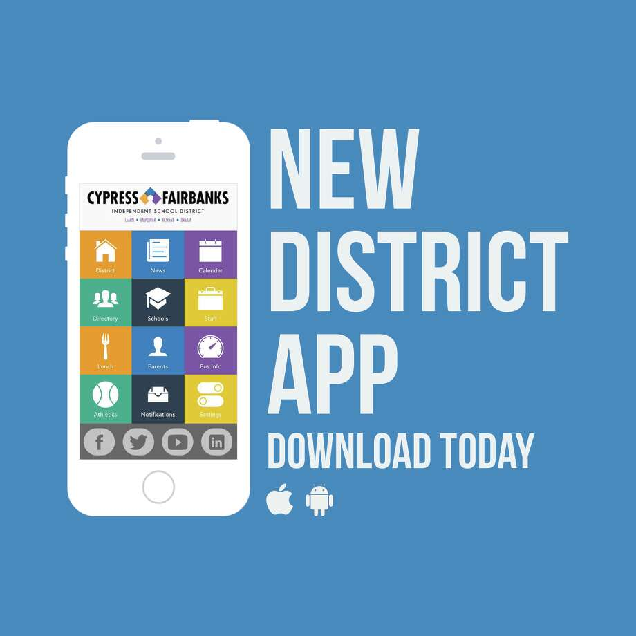 The Cy-Fair school district's app has been downloaded by 19,000 people since it was launched in August.  Photo: Cy-Fair App