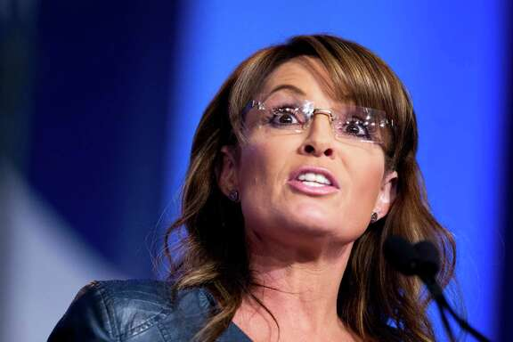 FILE - In this Sept. 26, 2014 file photo, former Alaska Gov. Sarah Palin and vice presidential candidate speaks in Washington. Republican presidential front-runner Donald Trump received a key endorsement from conservative heavyweight Sarah Palin, Tuesday, Jan. 19, 2016.