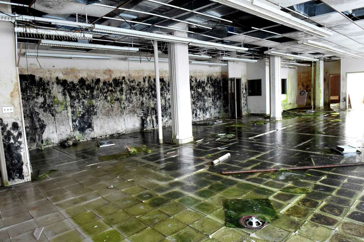 Interior room with waterlogged floor in the former Beech-Nut plant on Tuesday, Jan. 19, 2016, in Canajoharie, N.Y. (Cindy Schultz / Times Union)