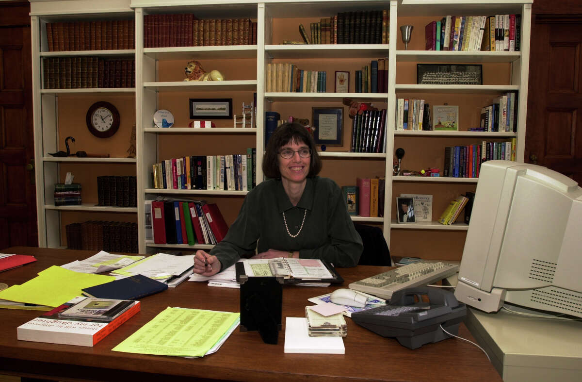 Trudy Hall, head of Emma Willard School, in her offices on campus in Troy, New York Jan. 17, 2001. (Skip Dickstein/Times Union archive)