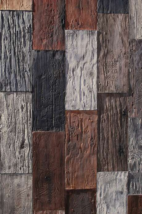 Utility pole tiles by S.F. ceramics artist John Whitmarsh. Photo: Cle Tile