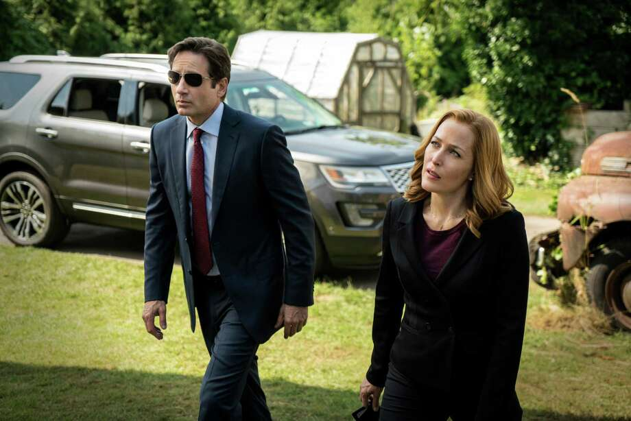 "David Duchovny and Gillian Anderson return as FBI Agents Fox Mulder and Dana Scully in ""The X-Files."" Photo: Ed Araquel, HONS / FOX"