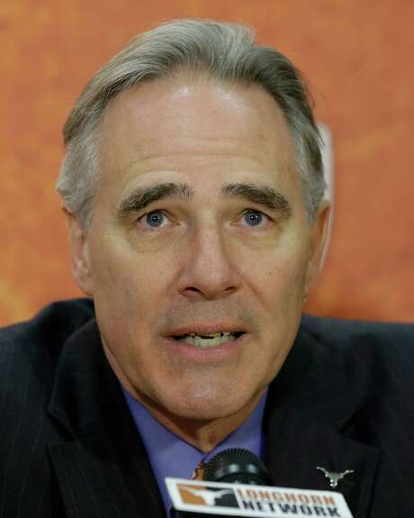 Texas athletic director Steve Patterson during a news conference where Charlie Strong was introduce at the new Texas football coach,Monday,  Jan. 6, 2014, in Austin, Texas. (AP Photo/Eric Gay) Photo: Eric Gay, STF / AP