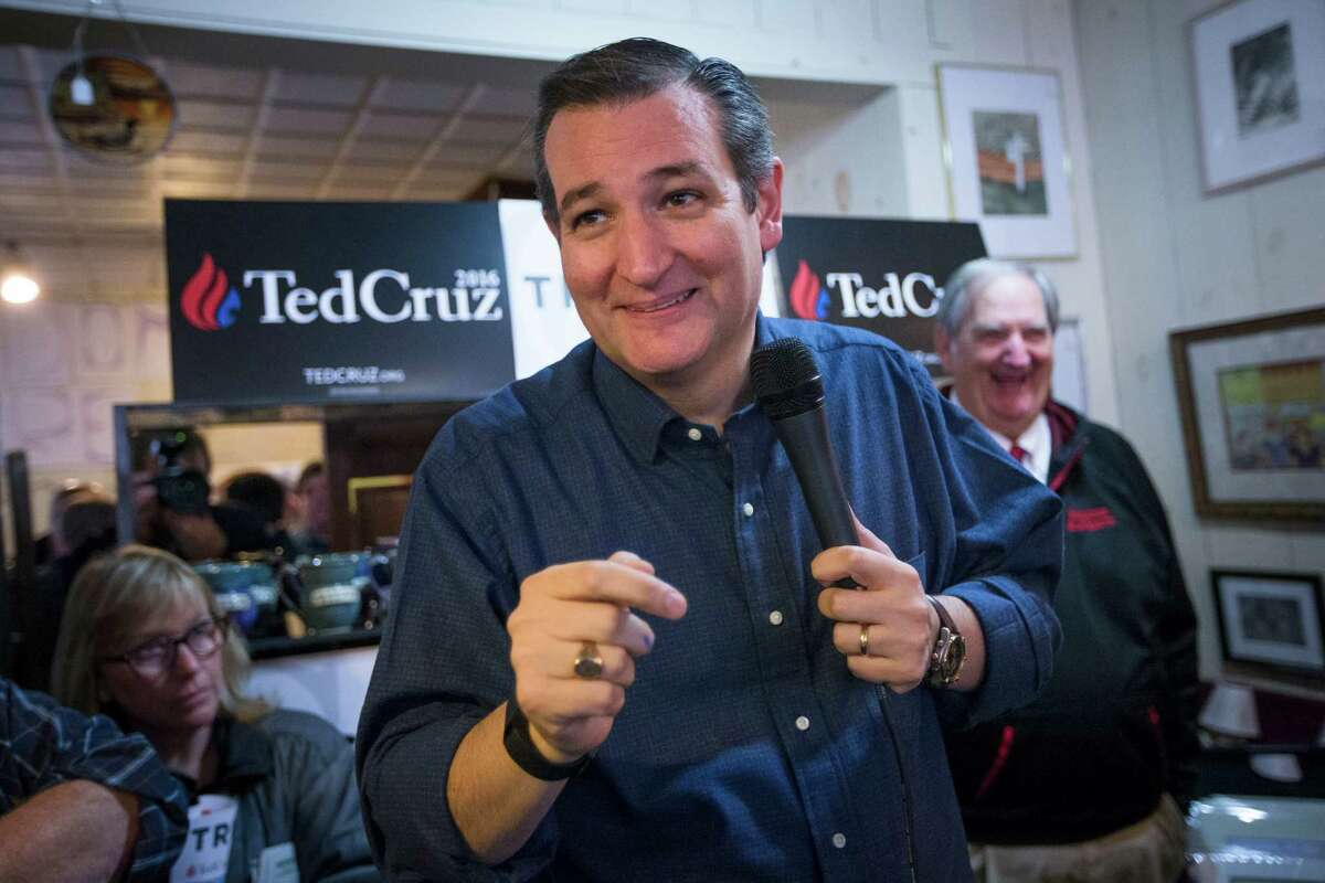 Ted Cruz campaigns at Feedom Country Store in Freedom, N.H.
