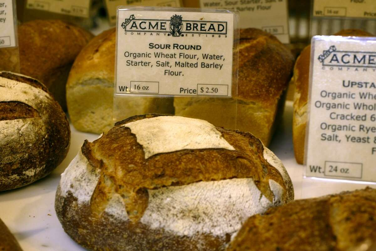 There are many good meals to be enjoyed at the Ferry Building, but one of the easiest is grabbing a loaf of bread from Acme and a bit of cheese from neighboring Cowgirl Creamery.