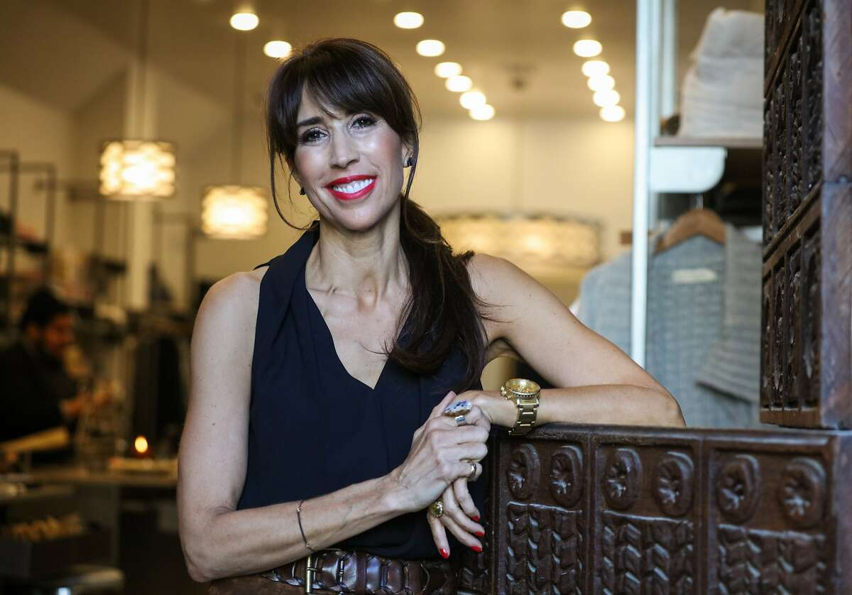 Victoria Hitchcock, a fashion consultant, poses for a portrait at Pacific Heights boutique Denim & Soul in San Francisco, California on Friday, January 15, 2016.