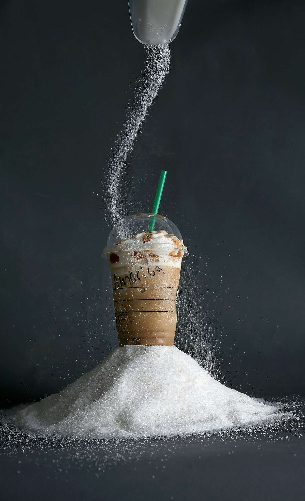 You'll consume over 8 cups of added sugar over the course of a year if you have one tall Starbucks Caramel Frappuccino every week.