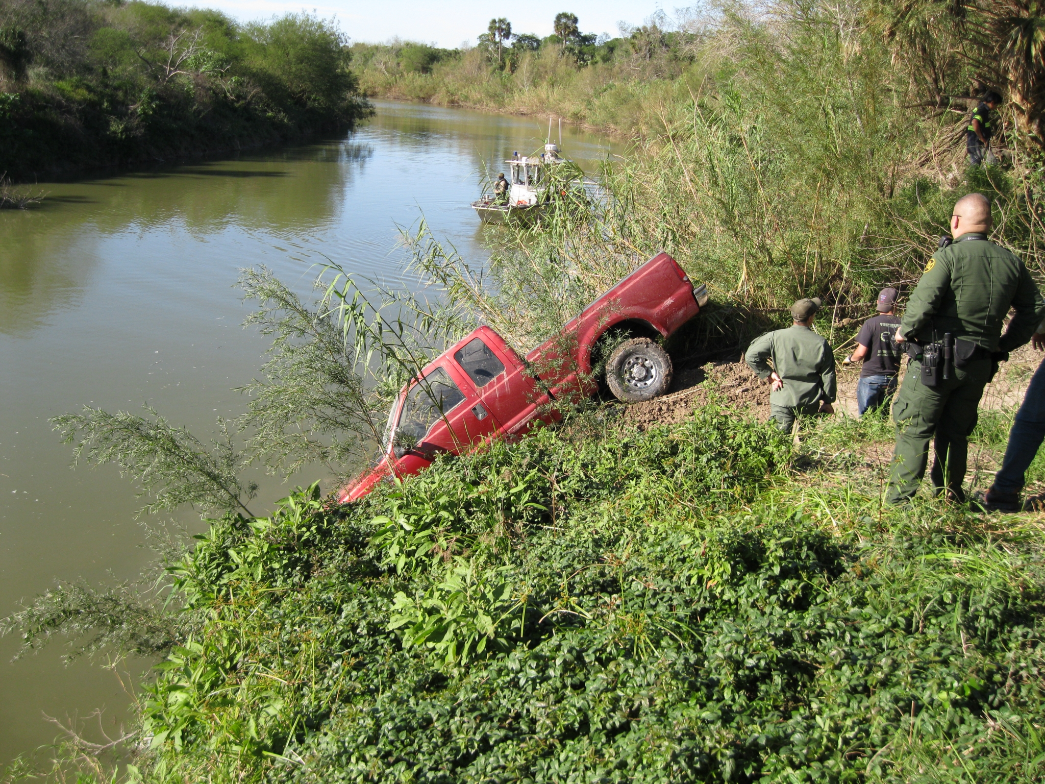 Smuggler Avoids Border Agents By Driving Truck Into Rio
