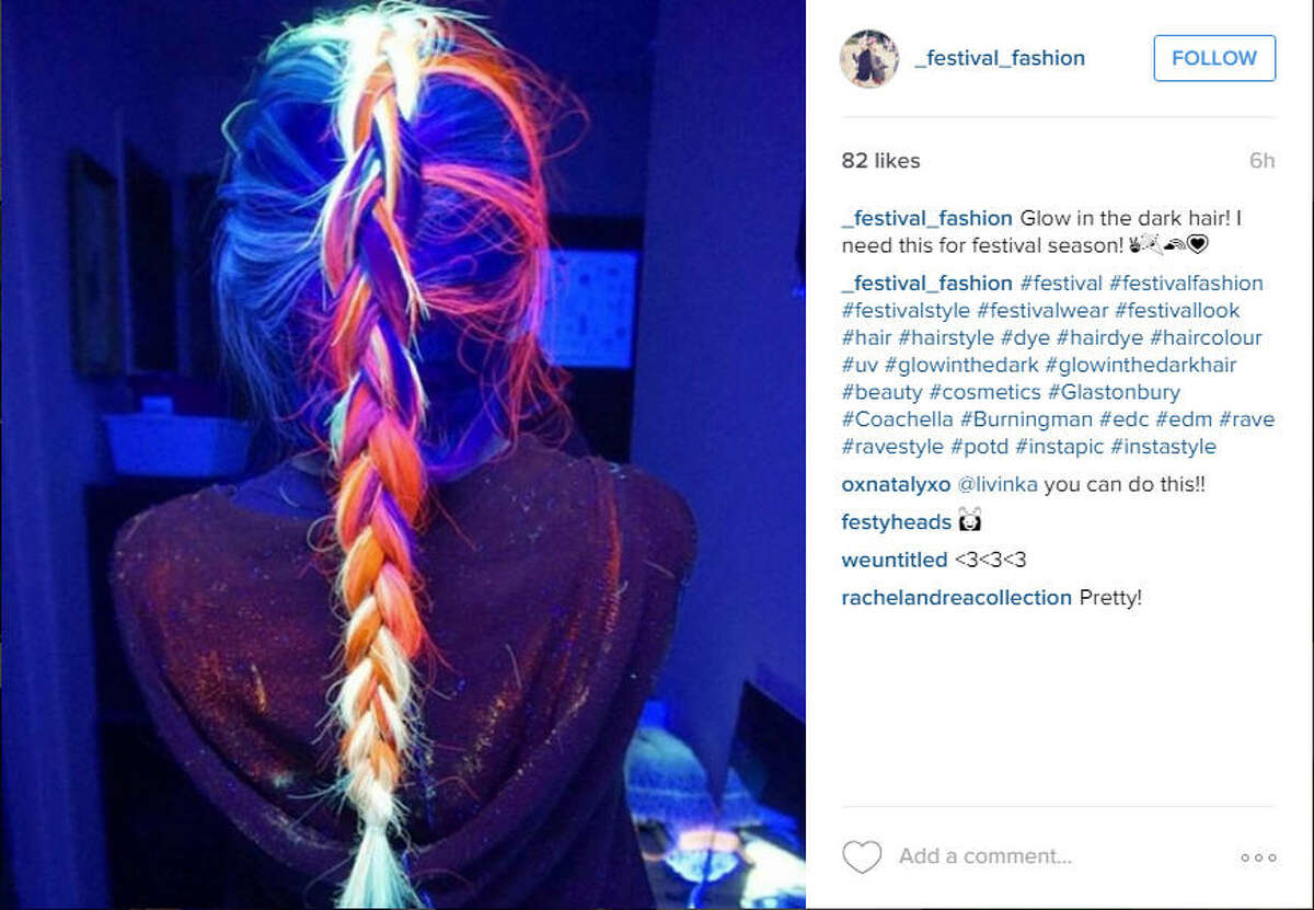 #GlowInTheDarkHair This new trend started sweeping through social media in early 2016.