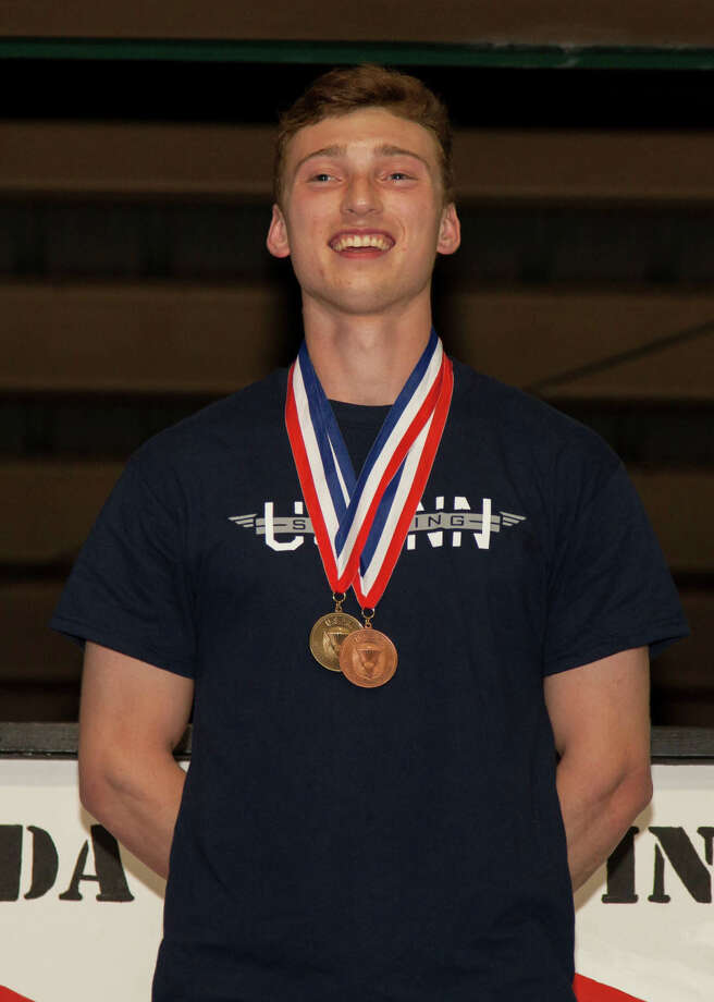 Zach Vasnick, a native of Sherman, recently won a gold medal in the sport accuracy competition at the 2015 U.S. Parachute Association National Collegiate Parachuting Championships. Photo: Courtesy Of Laszlo Andacs / Copyright: Laszlo Andacs www.laszloimage.com