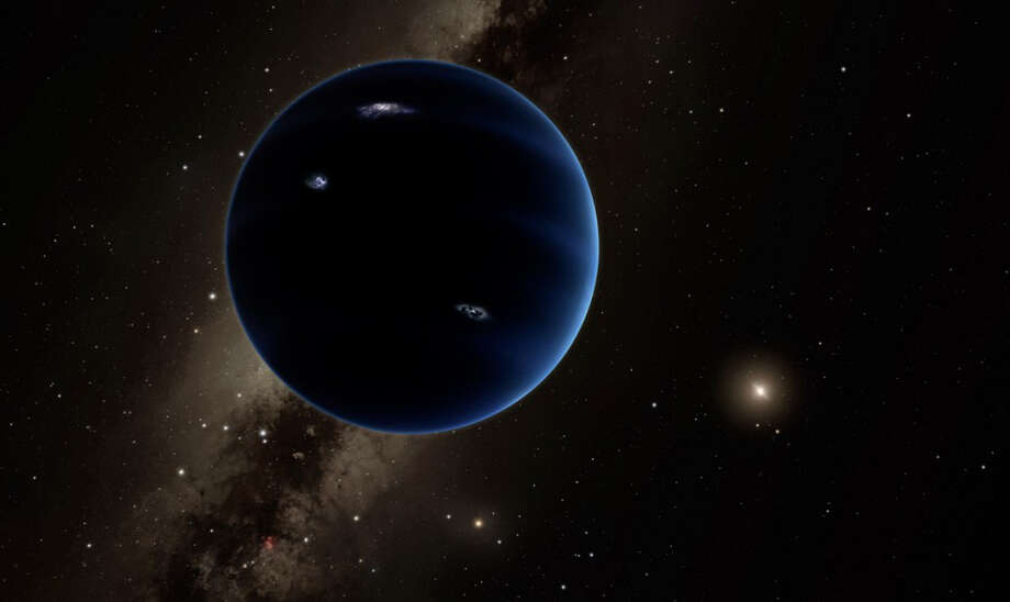 An artist's impression of Planet Nine, which could sit at the edge of our solar system.  Photo: R. Hurt, California Institute Of Technology / Handout