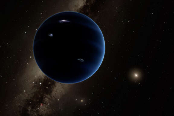 An artist's impression of Planet Nine, which could sit at the edge of our solar system.