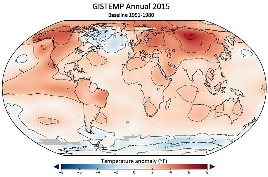 Last year was the planet's hottest since record-keeping began in 1880, according to NASA and NOAA. Photo: Noaa, NOAA