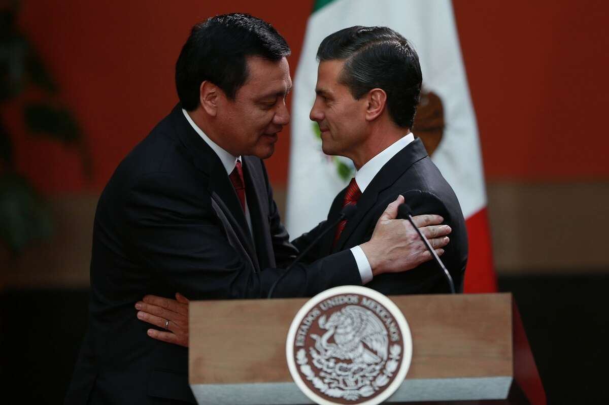 Winner: President of Mexico, Enrique Peña Nieto The leader got egg on this face after