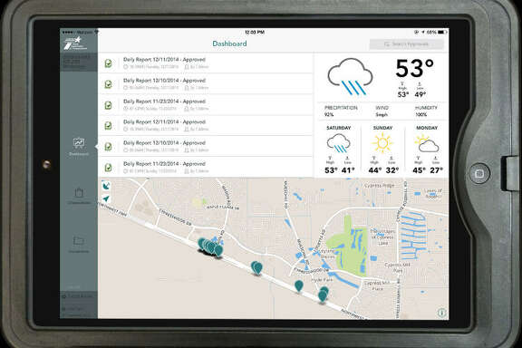 HeadLight, a program tailored to transportation project inspectors, allows workers to review daily reports, locations inspected and weather information remotely via a tablet computer.