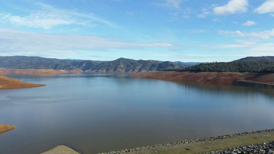 A view of Lake Oroville on Jan. 20, 2016. California's second-largest reservoir water level dropped to 649 feet on Dec. 9. With recent storms, its filling back up and is now at 694 feet. Photo: Courtesy California Department Of Water Resources