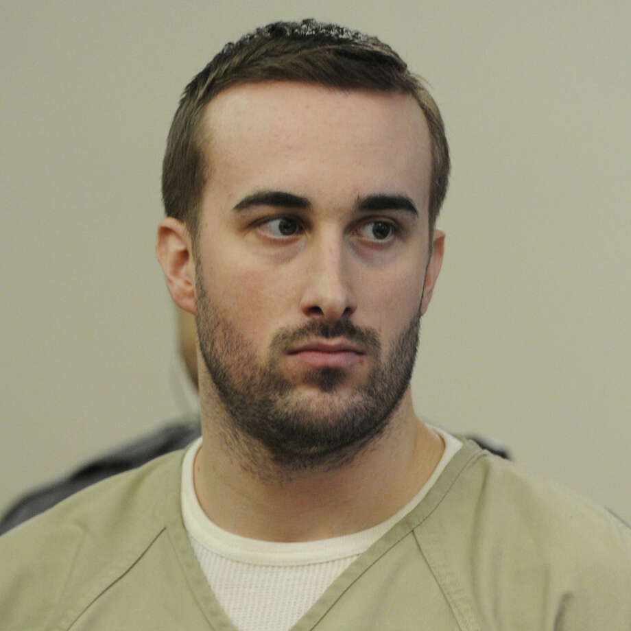 Kyle Navin, a former Westporter shown in a file photo, pleaded not guilty Wednesday to murder under special circumstances in connection with his parents' deaths last year. Photo: Ned Gerard / Hearst Connecticut Media / Westport News