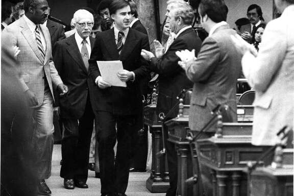 Governor Jerry Brown arrives to delivers his State of the State speech  Photo ran 01/08/1976 p, 22