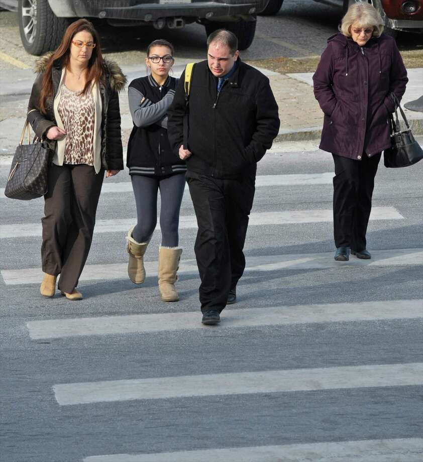 Brian Stroh, 31, of New Fairfield, a former Bethel elementary school teacher who pleaded no contest to three counts of risk of injury to a minor and one count of promoting a minor in an obscene perfor mance arrives at Connecticut Superior Court in Danbury, Conn, on Wednesday, January 20, 2016 for sentencing. Photo: H John Voorhees III / Hearst Connecticut Media / The News-Times