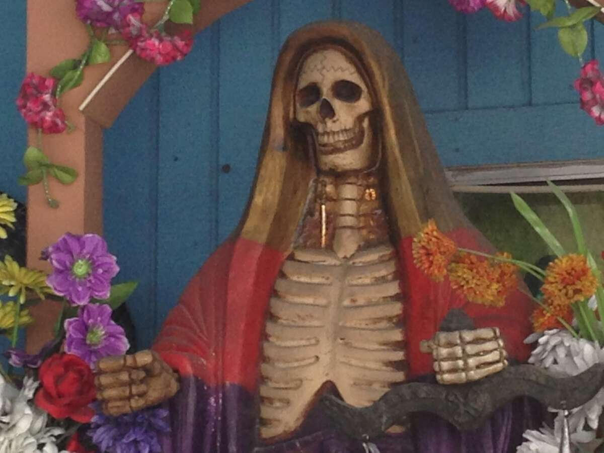 Flores Spices on Airline Drive has a Santa Muerte shrine.