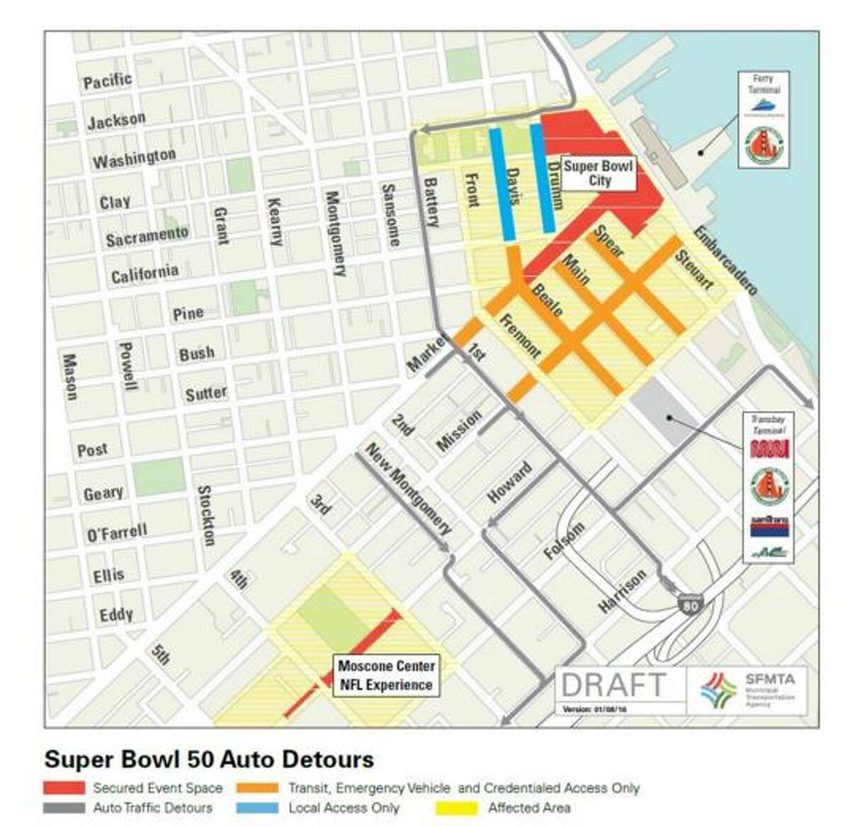 The Closures: Here are the planned detours and street closures for some of the most heavily used streets in San Francisco.