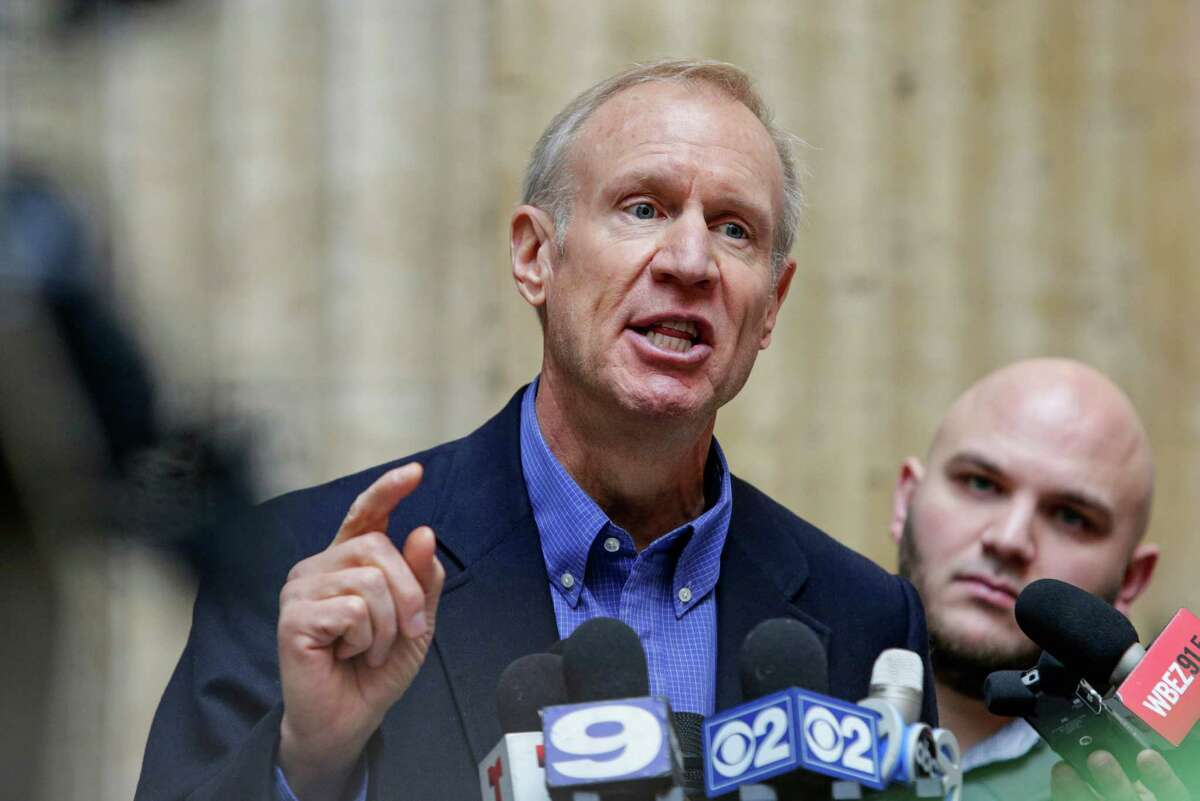 Illinois Gov. Bruce Rauner speaks at a news conference at Chicago's Union Station on Wednesday, Jan. 20, 2016, where he announced his support for a proposal by top Illinois Republicans for a state takeover of the financially troubled Chicago Public Schools. (AP Photo/Teresa Crawford)