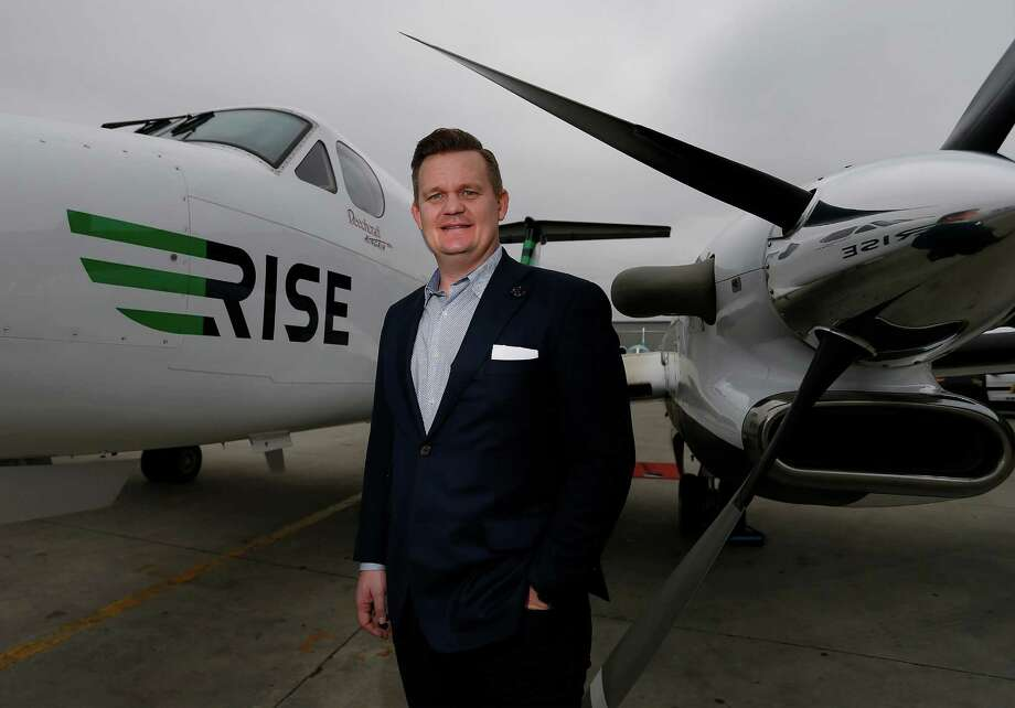 Rise CEO Nick Kennedy's startup offers flyers different membership levels to match their needs. Photo: Kin Man Hui /San Antonio Express-News / ©2016 San Antonio Express-News