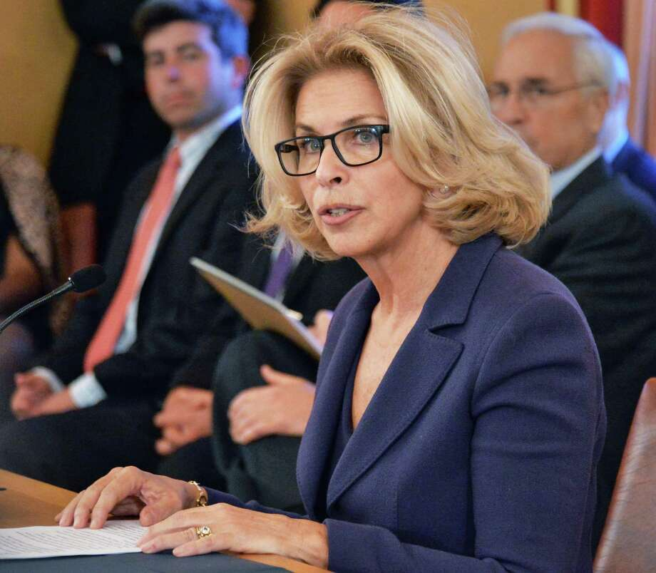 Westchester Co. DA Janet DiFiore testifies before a Senate Judiciary Committee considering her nomination as Chief Judge Wednesday, Jan. 20, 2016, at the Capitol in Albany, N.Y.  (John Carl D'Annibale / Times Union) Photo: John Carl D'Annibale / 10035078A