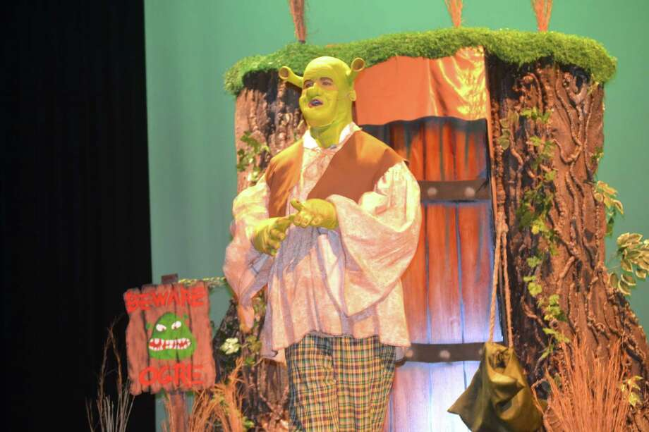 """""""Shrek, the Musical"""" will be performed at 7 p.m. Jan. 21-23 and Feb. 4-6 at Texas City High School, 1431 Ninth Ave. N., Texas City. Here's Shrek, played by Riley Harper. Photo: Melissa Tortorici"""