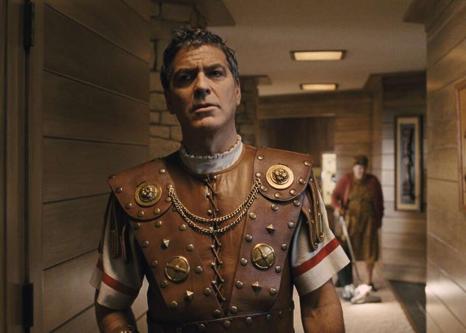 """George Clooney is a dim-witted actor playing a centurion in a sweeping biblical epic in """"Hail, Caesar!"""" Photo: Universal"""