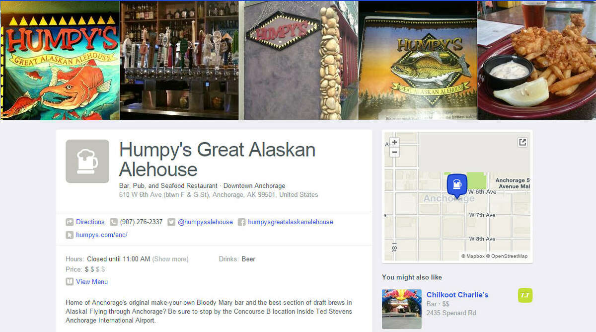 Alaska Humpy's Great Alaskan Alehouse 610 W 6th Ave (F & G St), Anchorage